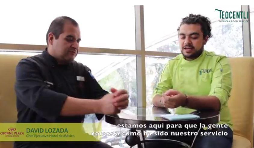 2da. Entrevista con el Chef Ejecutivo David Lozada del Hotel Crowne Plaza.