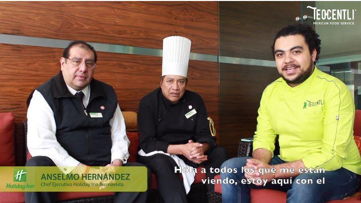 Entrevista con el Gerente Luis Cabrera y el Chef Anselmo Hernández del Hotel Holiday Inn, Buenavista.