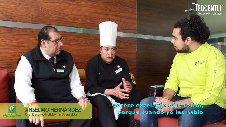 2da. Entrevista con el Gerente Luis Cabrera y el Chef Anselmo Hernández del Hotel Holiday Inn, Buenavista.
